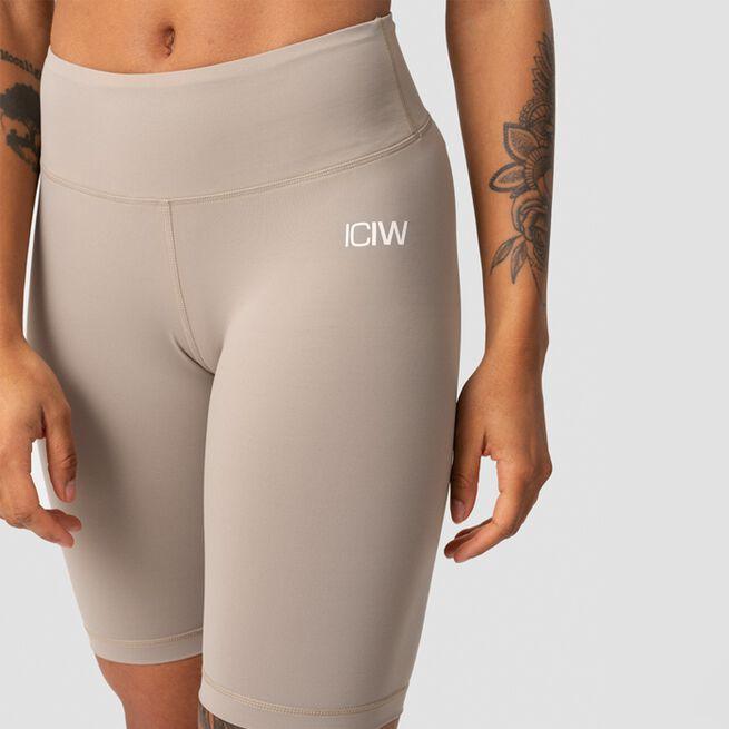 ICANIWILL Classic V-Shape Biker Shorts, Sand