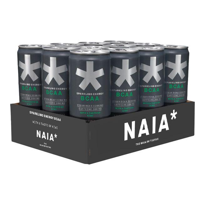 12 x NAIA* Energy BCAA, 330 ml, Kiwi