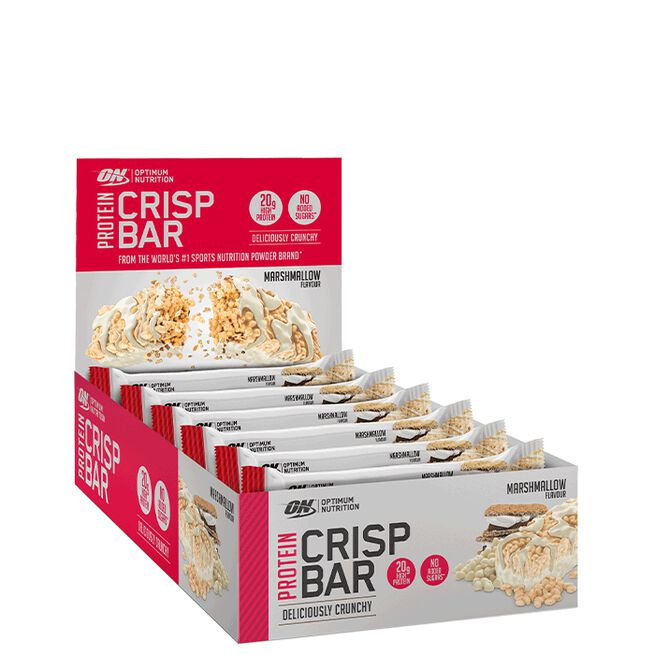 10 x Optimum Protein Crisp Bar, 65 g, Marshmallow