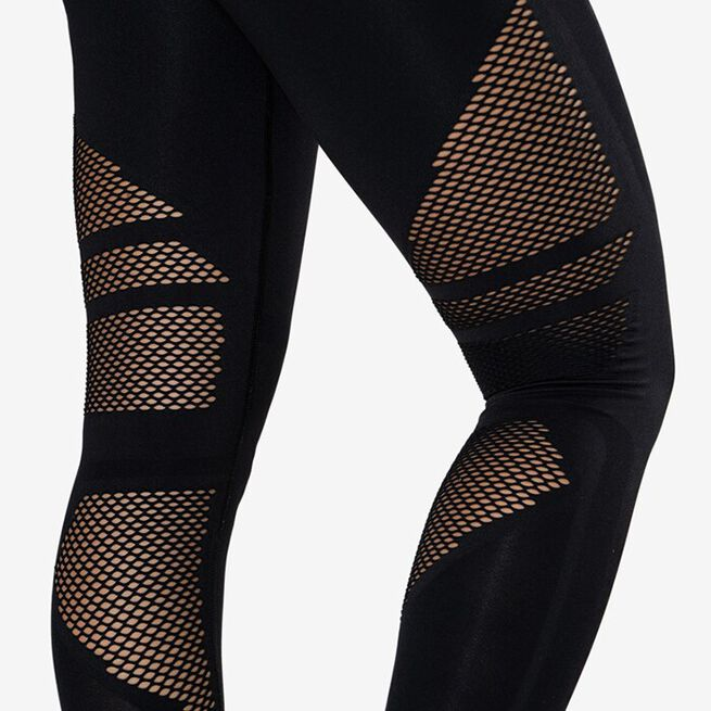 Queen Mesh Tights, Solid Black, XS