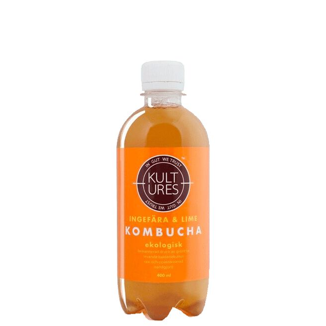 Kultures Kombucha Ginger Lime, 400 ml