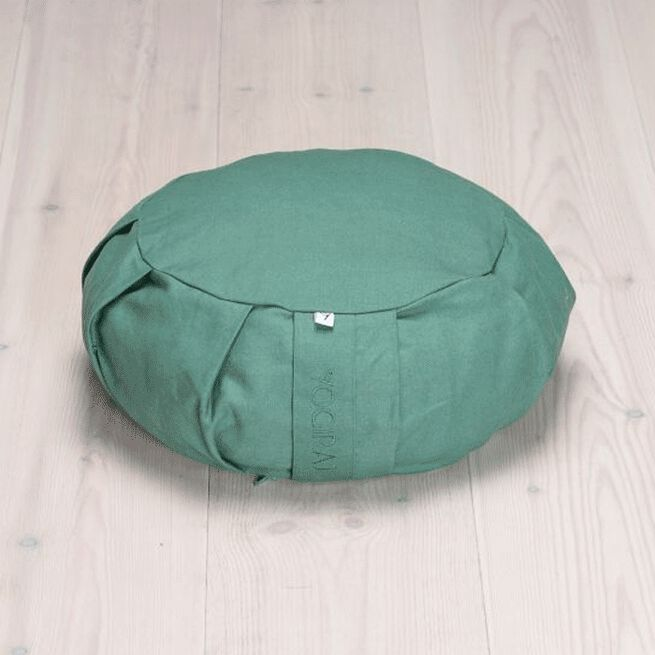 Meditation Cushion Round, Moss Green Yogiraj