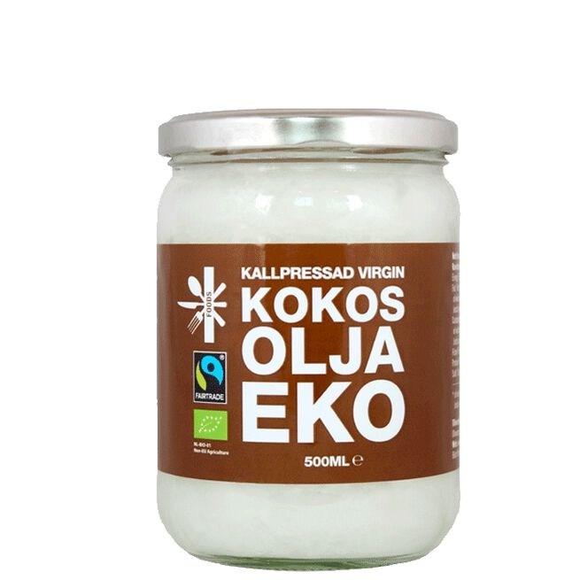 Kokosolja Kallpressad Virgin EKO & Fairtrade, 500 ml