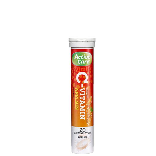 Active Care C-Vitamin, Apelsin, 20 Brustabletter