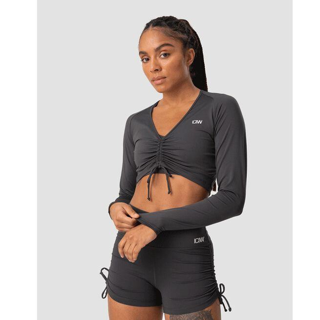Scrunch Long Sleeve, Anthracite, L