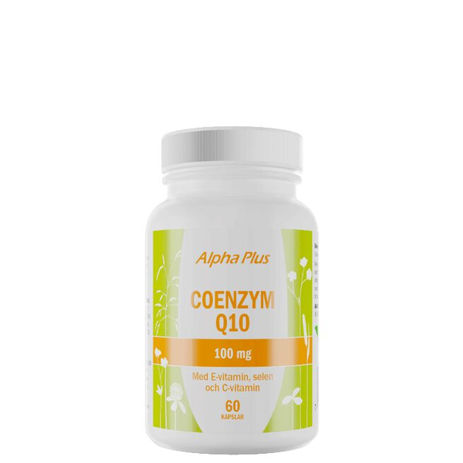 COENZYM Q10 100mg med E-vitamin och Selen, 60 kapslar