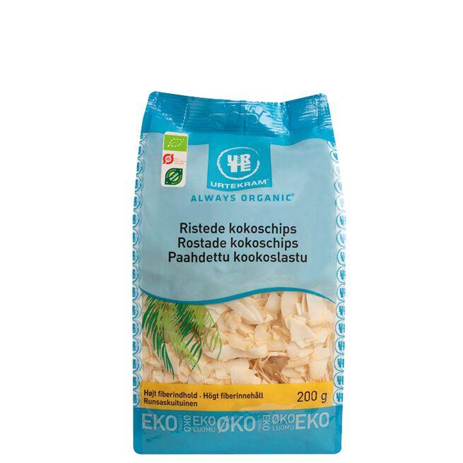 Rostade kokoschips, 200 g