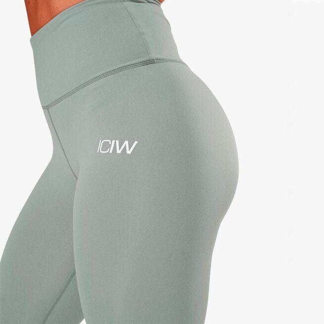 ICIW scrunch v-shape tights silver mist