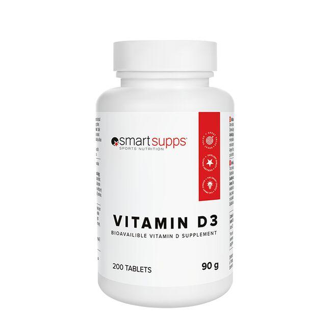 SmartSupps Vitamin D3, 200 tabs