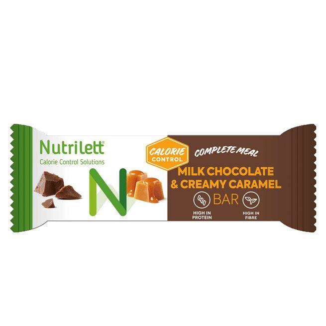 Nutrilett Milkchocolate & Creamy Caramel bar, 60 g