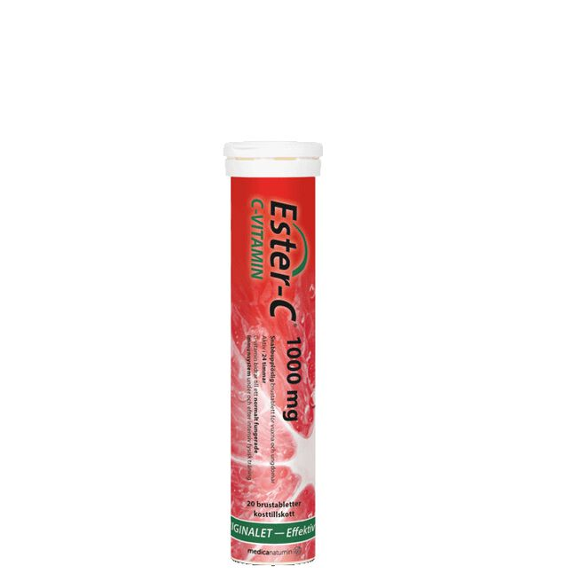 Ester-C 1000 mg, Apelsin, 20 Brustabletter