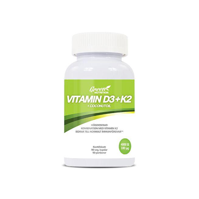 Vitamin D3-K2+Coconut Oil, 90 kapslar
