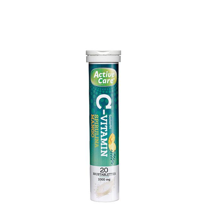Active Care C-vitamin, Spirulina Mango, 20 Brustabletter