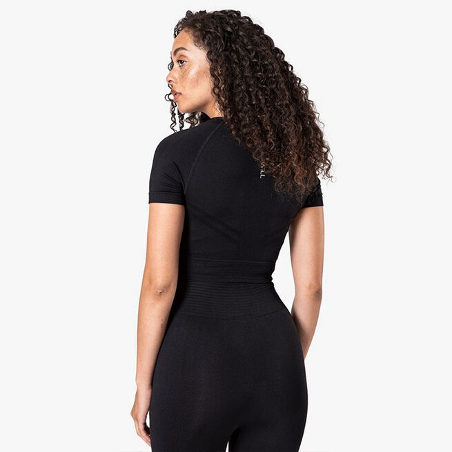 ICIW Define Seamless Cropped T-shirt, Black