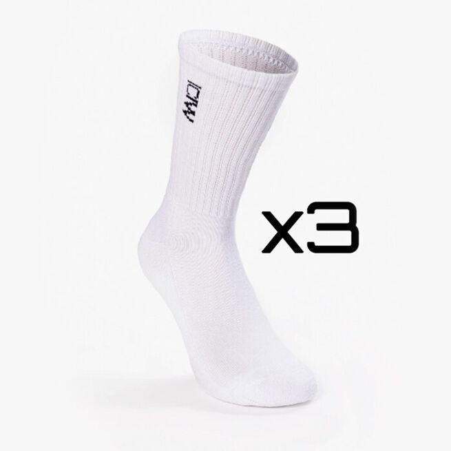 Training Unisex Socks 3-pack, White, 39-41