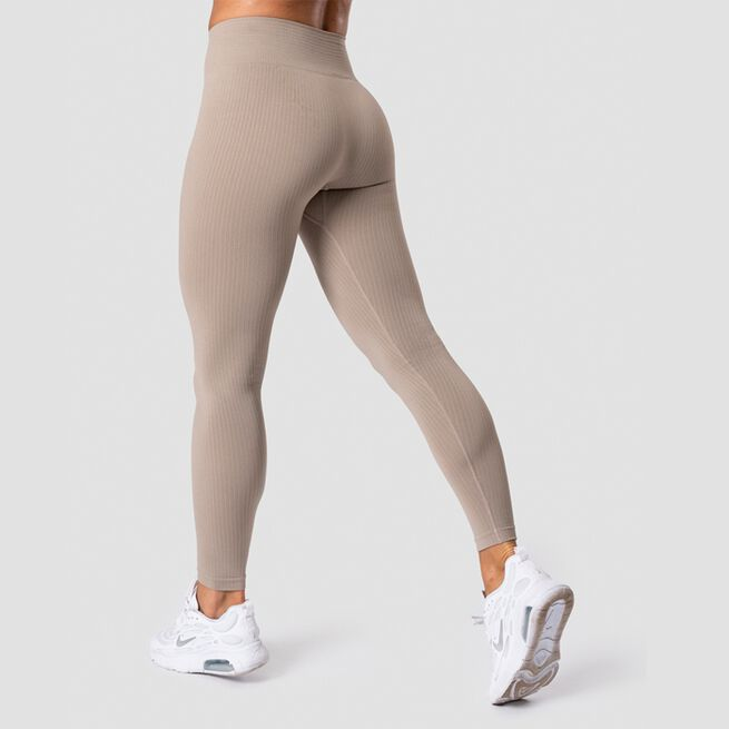 ICANIWILL Ribbed Define Seamless Tights, Sand