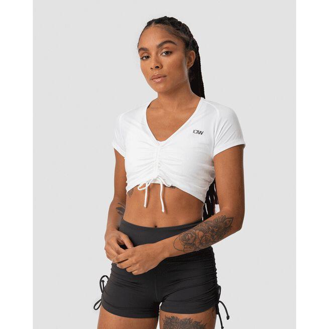 Scrunch T-shirt, White, M