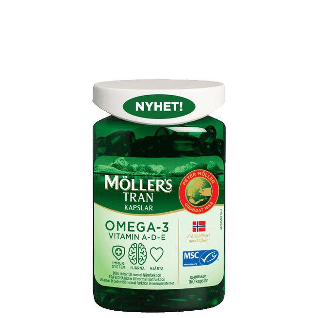 Möllers Tran Omega-3, 160 kapslar