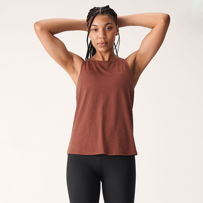 Split Back Singlet, Copper Brown, L