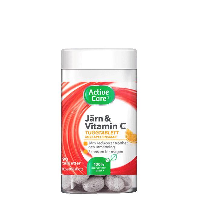 Active Care Järn tuggtablett, 90 tabletter
