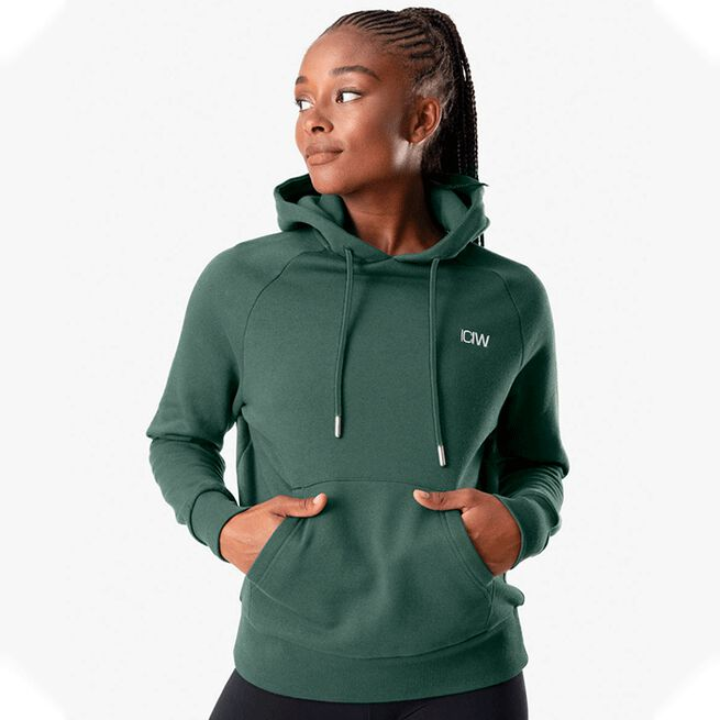 ICANIWILL Essential Hoodie, Moss