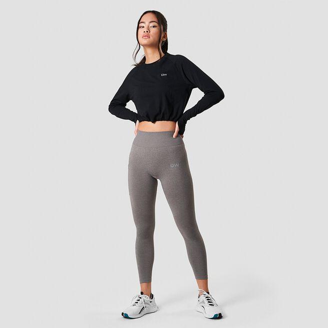 ICANIWILL Define Cropped Adjustable Long Sleeve Black