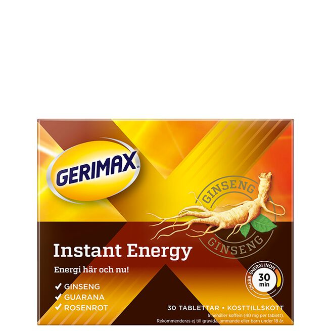 Gerimax Instant Energy, 30 tabletter