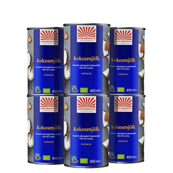 6x  Kokosgrädde. 400 ml