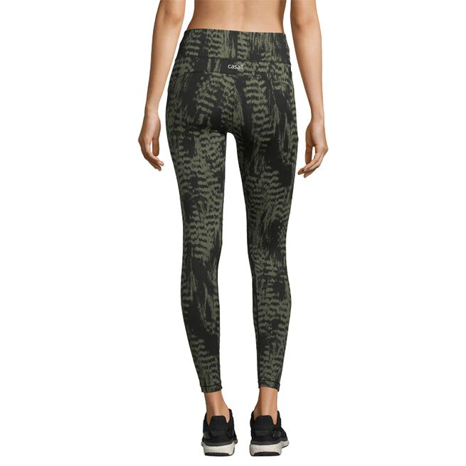 Casall Iconic Printed 7/8 Tights Survive Dark Green