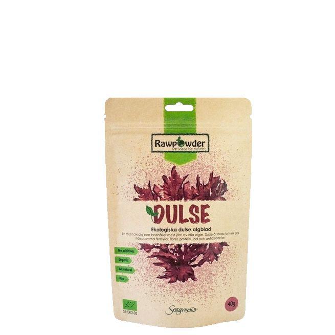 Rawpowder Ekologisk Dulse Alg Blad, RAW, 40 g
