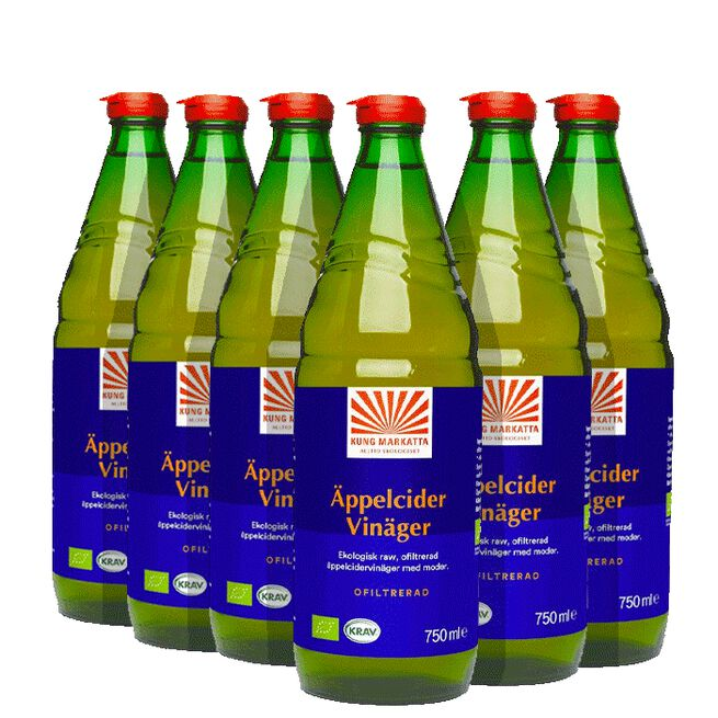 6x  Äppelcidervinäger, 750 ml