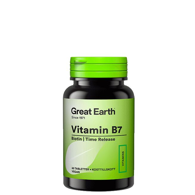 Vitamin B7/Biotin, 60 tabletter Great Earth