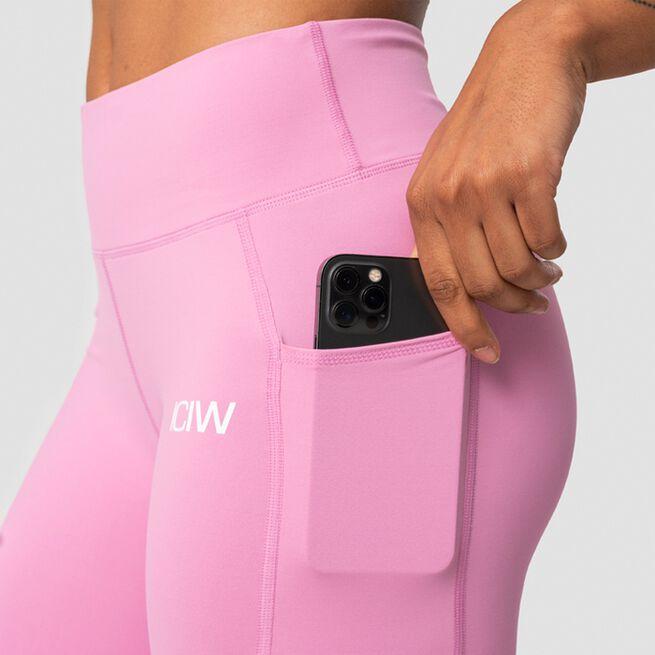 ICANIWILL Classic Pocket Biker Shorts, Dusty Pink