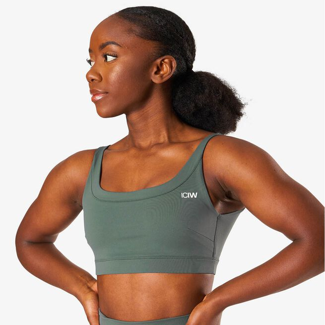 ICIW nimble sports bra elm green