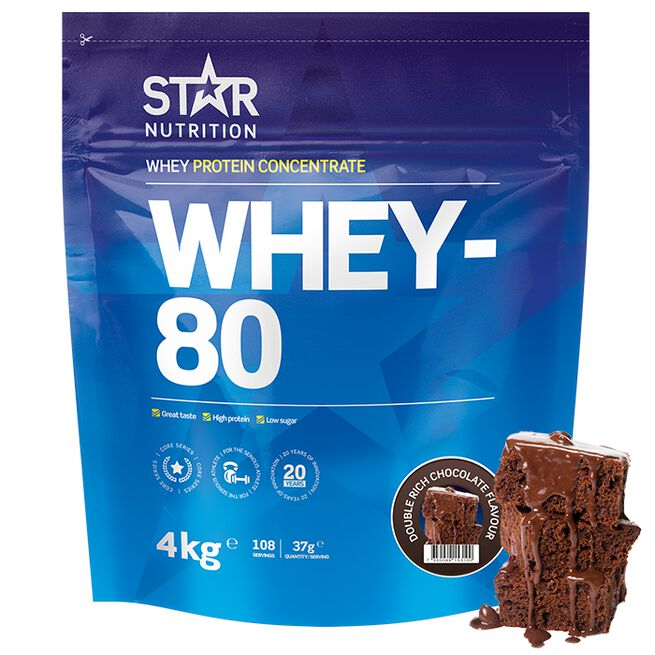 Whey-80, 4kg, Double Rich Chocolate