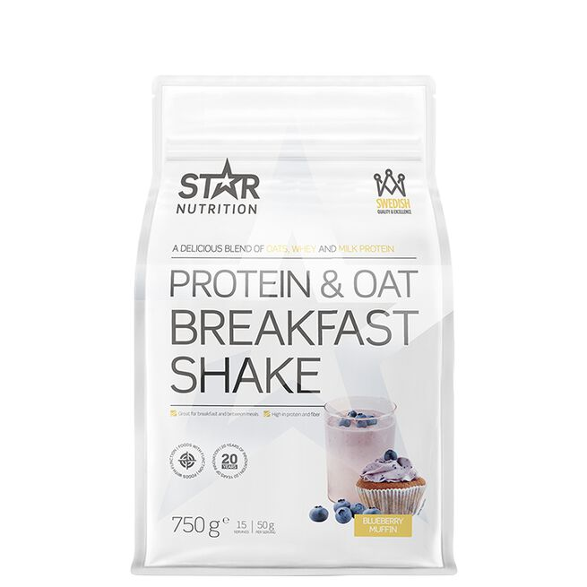 Star nutrition protein and oat breakfast shake Blueberry muffin
