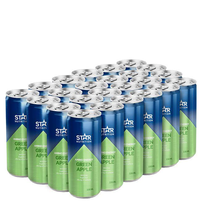 24 x Star Nutrition Amino Energy, 330 ml, Green Apple