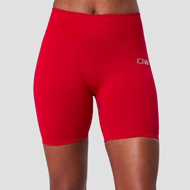 ICANIWILL Scrunch Seamless Shorts Deep Red