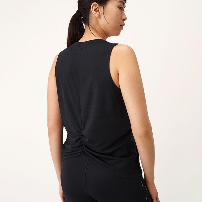 Split Back Singlet, Black, L