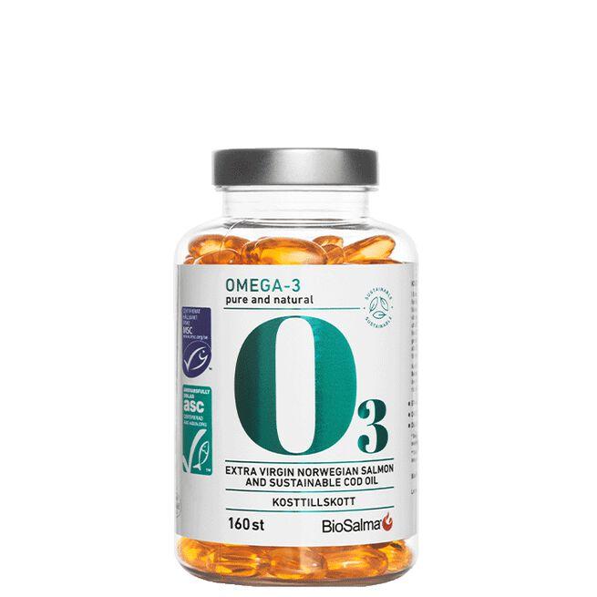 Miljömärkt Omega-3 Pure and Natural, 160 kapslar