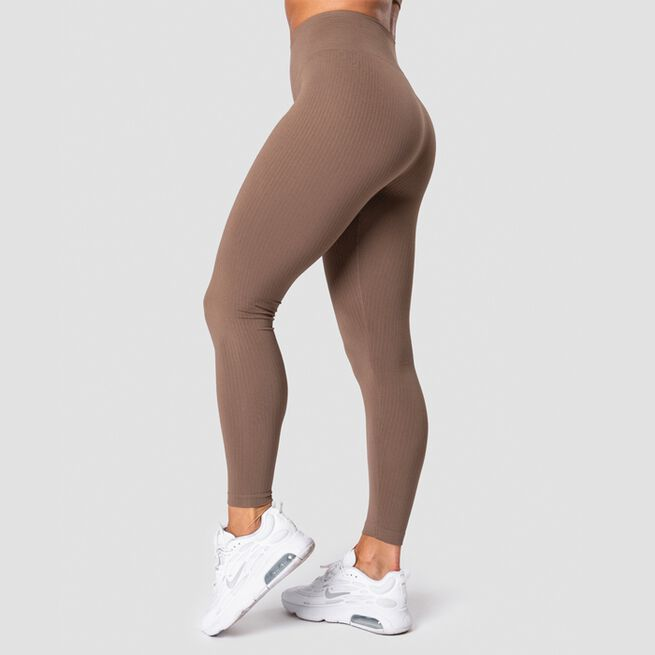 ICANIWILL Ribbed Define Seamless Tights, Desert Sand