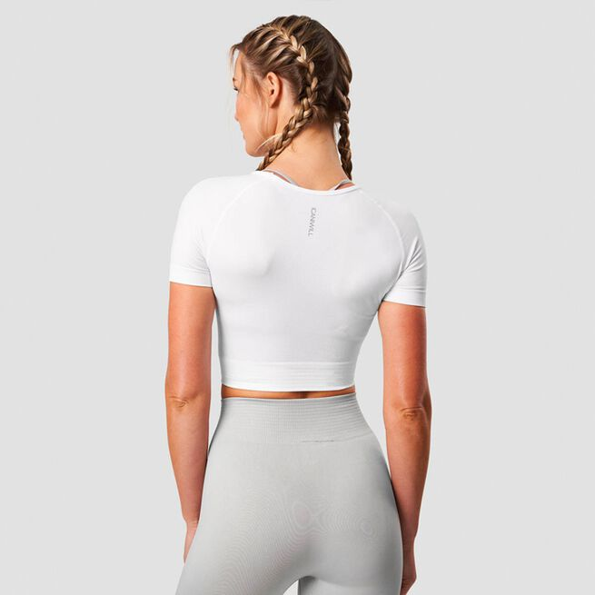 ICANIWILL Define Seamless Cropped T-shirt White