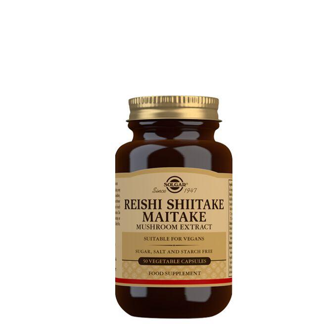 Reichi, Shiitake, Maitake muschroom extract, 50 kapslar