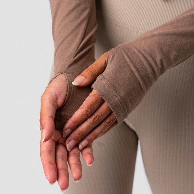 ICANIWILL Define Cropped Adjustable Long Sleeve, Desert Sand
