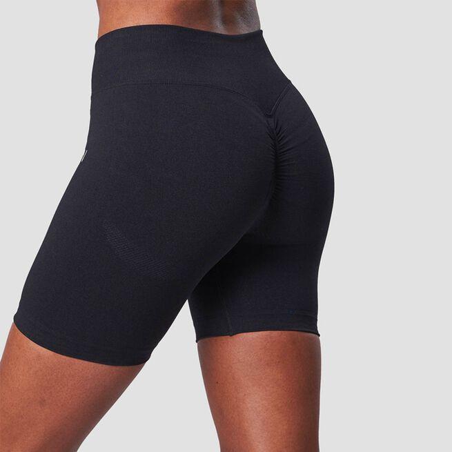 ICANIWILL Scrunch Seamless Shorts Black