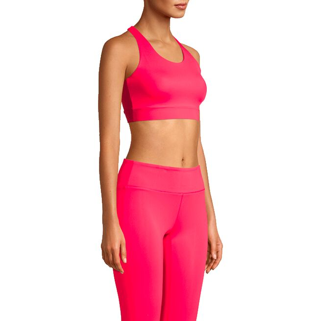 Crossback Sports Bra, Confident Pink