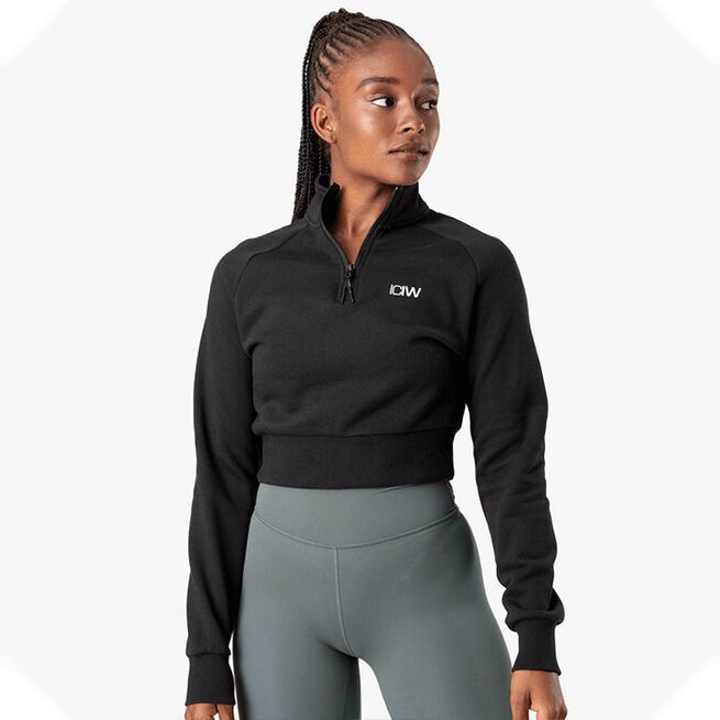 ICANIWILL Essential Cropped Sweater, Black