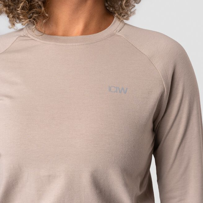 ICANIWILL Define Cropped Adjustable Long Sleeve, Sand