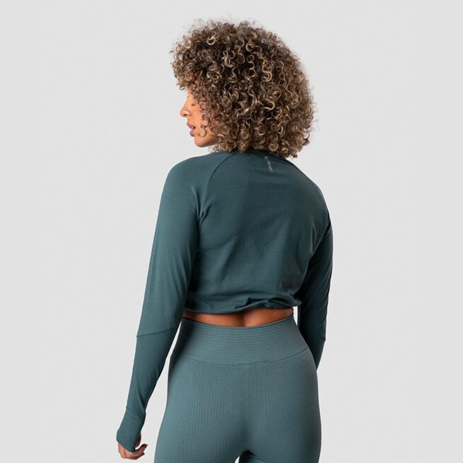 ICANIWILL Define Cropped Adjustable Long Sleeve, Jungle Green