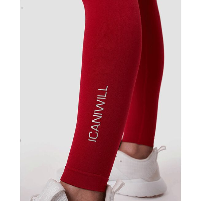 Scrunch Seamless Tights, Deep Red